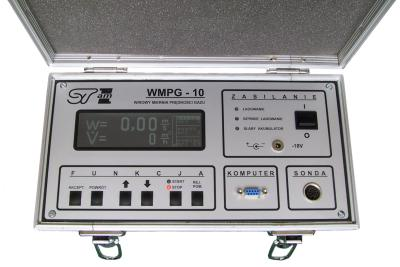The WMPG10 meter front panel view